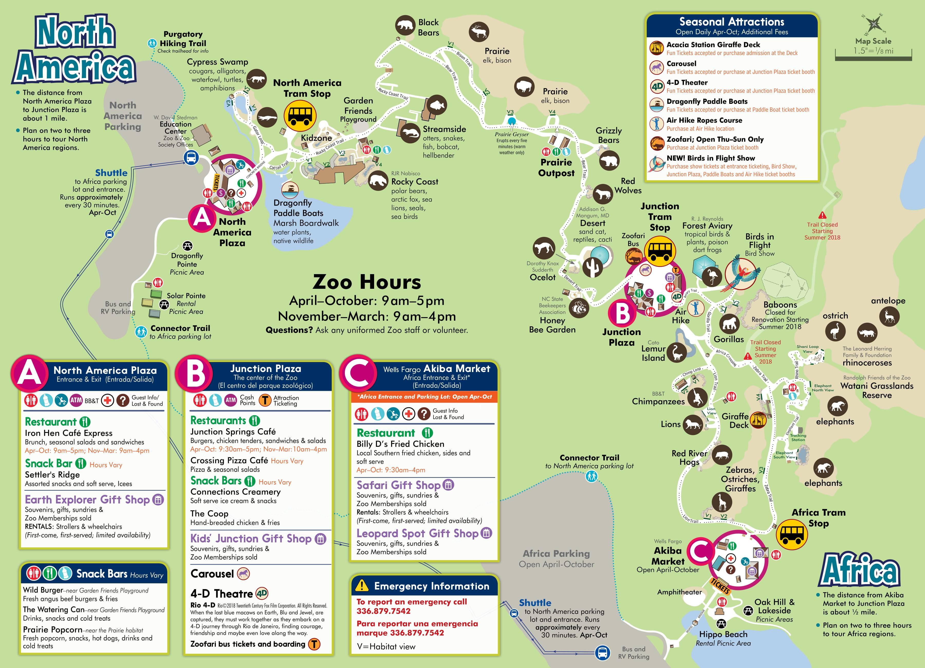 Visit north carolina zoo directions parking zoo map reheart Choice Image