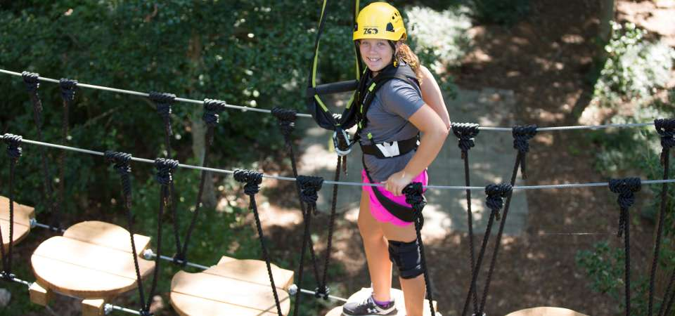 Air Hike ropes course
