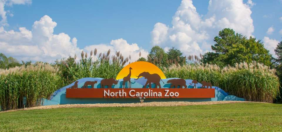 North Carolina Zoo entrance sign