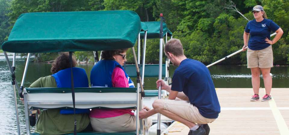 Seasonal paddle boats staff