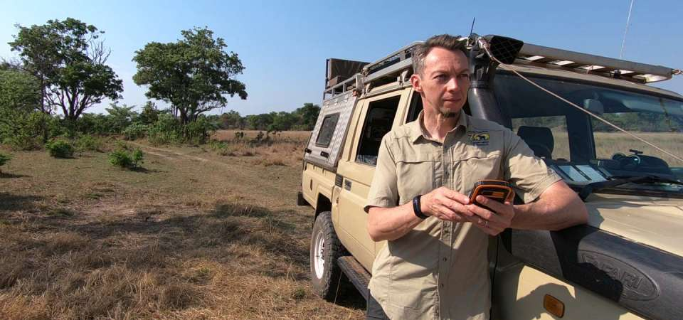 Rich Bergl working with SMART technology in Africa