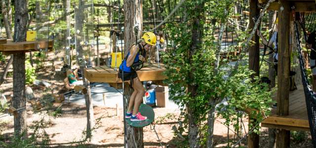 Adventure and challenges are abundant on Air Hike ropes course