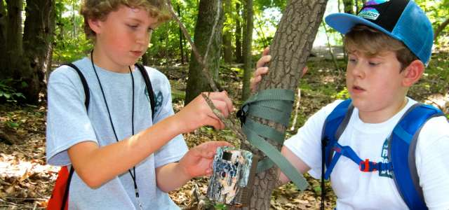 Wildlife Science Camp photo trapping