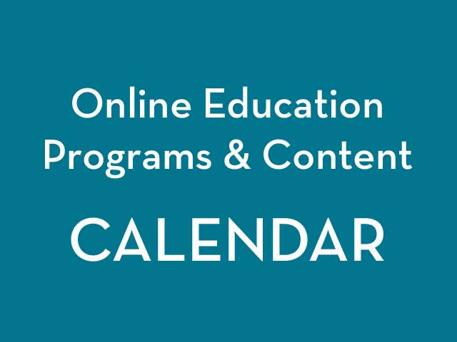 Education Program Calendar Graphic